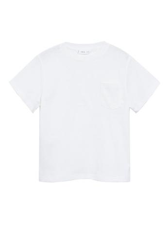 MANGO KIDS white Organic Cotton Pocket T-Shirt E552FKA0E7199FGS_1