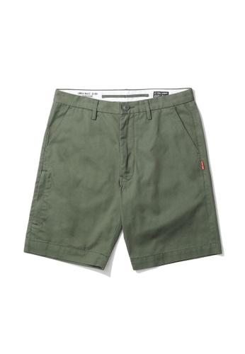 izzue green Logo patch chino shorts C7560AA507C8FEGS_1