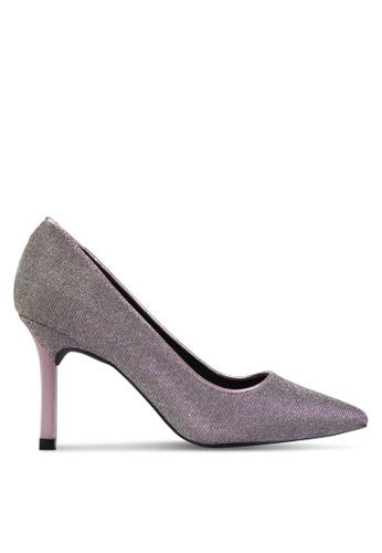 VINCCI pink Shimmer Pump Heels VI831SH0SY5ZMY_1