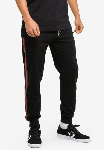 Flesh IMP black Voltages Zipper Jogger Pants 4E873AA445DCB9GS_1