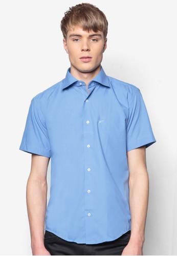 合身短袖襯衫, 服esprit台北門市飾, 素色襯衫