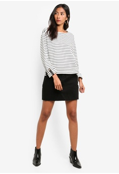 39f1d25519 60% OFF River Island Notch Front Stripe Utility Top S  49.90 NOW S  19.90  Sizes 6 8 10 12 16