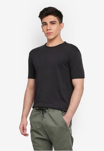 Only & Sons 黑色 素色短袖T恤 23C67AAC226FECGS_1