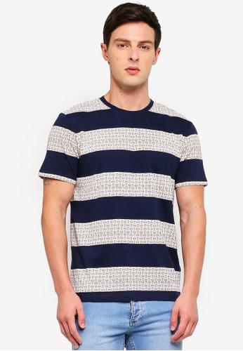 ESPRIT 海軍藍色 短袖T恤 3D154AA38E7495GS_1