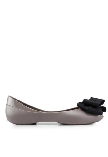 Twenty Eight Shoes grey Jelly Bow Ballet Flats 658-18 2FAD7SH04D9FE3GS_1