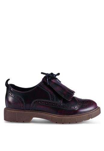 ONLY 紅色 流蘇船型鞋 6B529SHC27D80BGS_1
