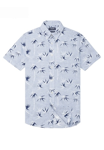 Chaps Chaps Printed Linen Cotton Shirt CH325AA0RE1SMY_1