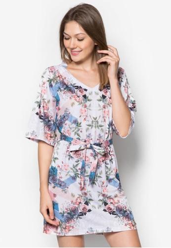 Pafit esprit 會員五分袖印花洋裝, 服飾, 夏日洋裝