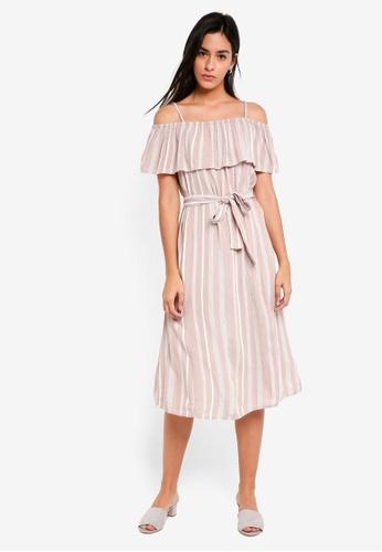 ICHI beige Marrakech Dress 65DD3AA2B74234GS_1