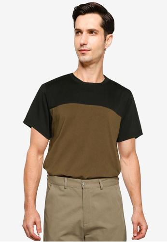 ZALORA BASICS multi Color Block T-Shirt BDD5EAA198C8C0GS_1