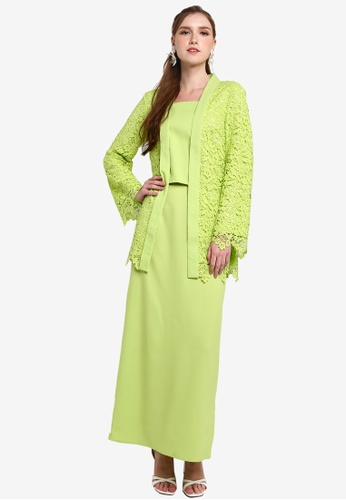 Lubna green Loose Lace Kebaya 6F3F0AA4FF4625GS_1