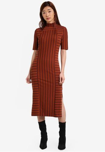 ZALORA multi Placement Stripe Column Dress 023F3ZZE5421F1GS_1