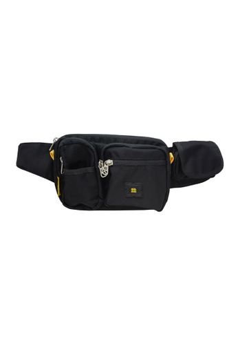 EXTREME black Extreme Nylon waist bag casual chest bag travel adventure hiking fanny pack 27373AC5729E8FGS_1