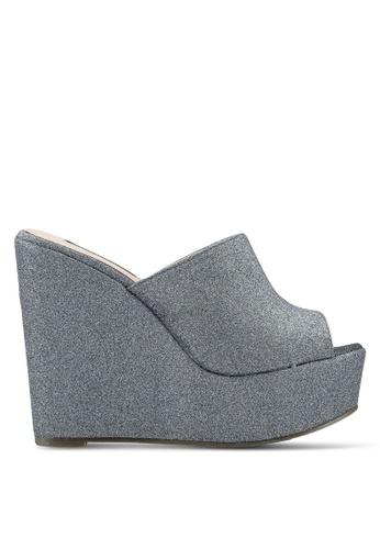 Nose 灰色 閃亮楔型鞋 D9F14SH6B6BA9AGS_1