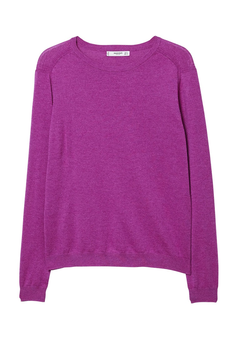 Mango Fine Purple Pastel Cotton Knit Sweater Light TTaqrw