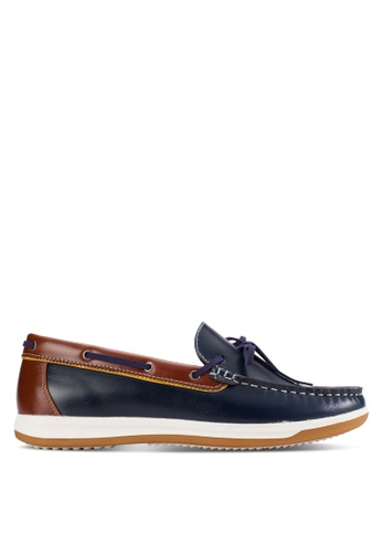 UniqTee blue Slip-On Moccasin With Lace UN097SH98KFTMY_1