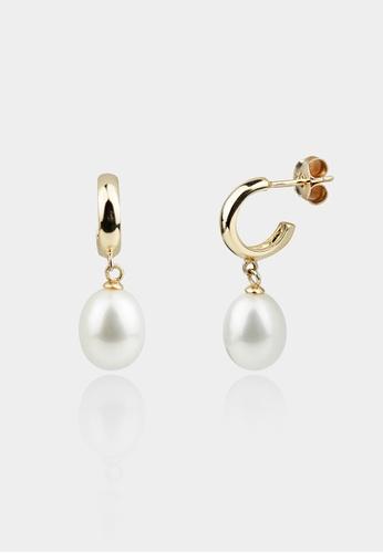 monojewelry CORETTA PEARL EARRINGS (GOLD) 1535AAC79F0EAAGS_1