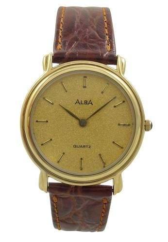 ALBA brown ALBA Jam Tangan Pria - Brown Gold - Leather Strap - ATA24J  AL383AC68ZZFID 1 a44309cb71