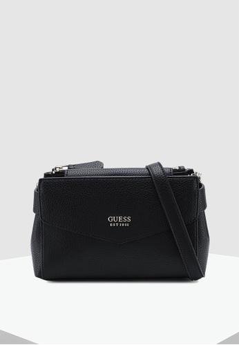 dcedbae51dda Guess black Colette Mini Society Crossbody Bag F5B2CAC1402BFEGS 1