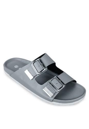 雙扣環zalora 心得 ptt帶基本款拖鞋, 女鞋, 鞋