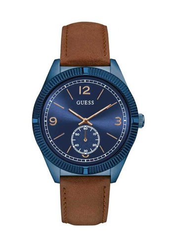 Guess brown Guess Blue and Brown Leather Watch B3588ACDAEC79FGS_1
