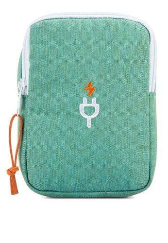 Bagstationz green Travel Gadget/Power Bank Pouch BA607AC83LQUMY_1