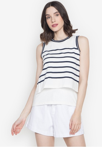 Blued white Harlow Top 77124AAC9F342AGS_1