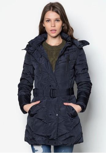 長版羽絨連帽外套,esprit tw 服飾, 夾克 & 大衣