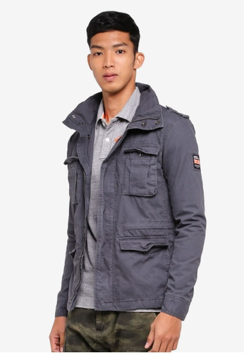 Superdry grey Classic Rookie Military Jacket 78C0DAAD2F62F1GS_1
