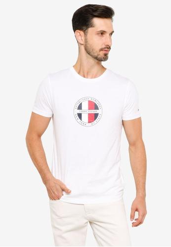Tommy Hilfiger white Circular Logo Tee 6DEF7AA96B05ABGS_1