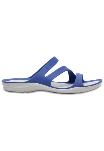 Crocs blue Women's Swiftwater Sandal BlJ/Pwh CR883SH0SI9FMY_1