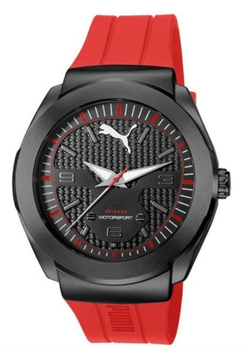 Puma Watches red PU103931001 Roadster Red PU Strap Men Watch PU549AC0SJ8BMY_1