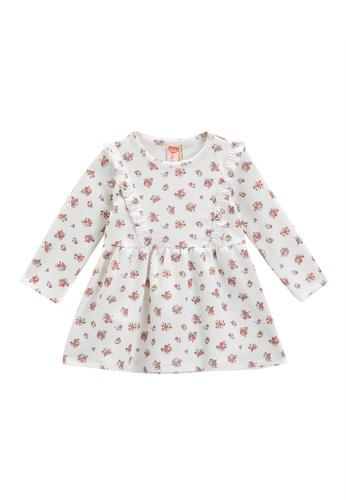 KOTON white Pattern Dress D0BF4KA9282F49GS_1