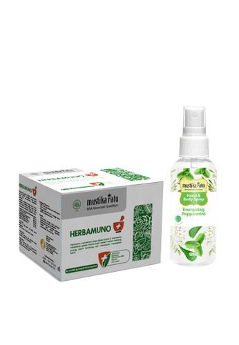 Mustika Ratu Herbamuno+ Immune Modulator 12 Strip (1 Box) + [Mustika Ratu] Hand and Body Spray Antiseptic Energizing Peppermint 958FEESA3D8CCDGS_1