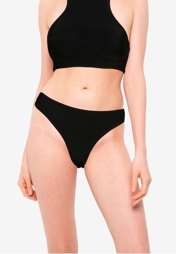 Public Desire black Bandage V Front Bikini Bottom AFC0DUS1C786EFGS_1