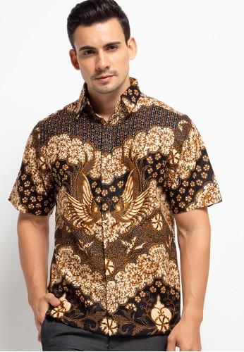 Le Viel Batik black Pramudya Shirt 13B41AAAB7CB35GS_1