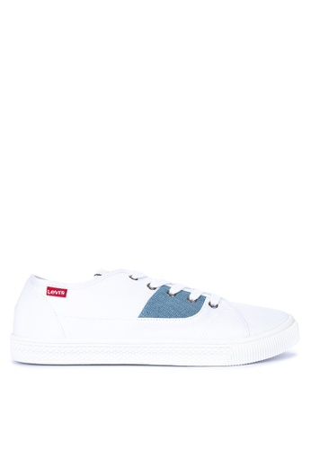 Levi's white Malibu Canvas Sneakers 99994SH86CCEE0GS_1