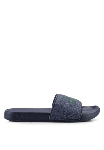 Superdry navy Lineman Pool Slides 97895SHE760653GS_1