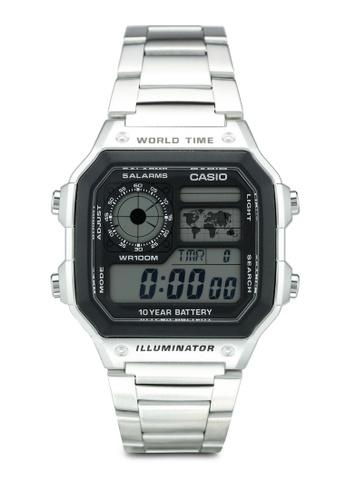 Casio silver Casio Watch AE-1200WHD-1AVDF B6644AC567ED84GS_1
