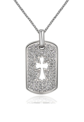 Sopistikada silver Constantine Cross White Gold Plated Necklace SO776AC85ZTAPH_1