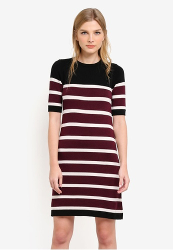 Dorothy Perkins multi Stripe Fit And Flare Dress DO816AA0S4SFMY_1