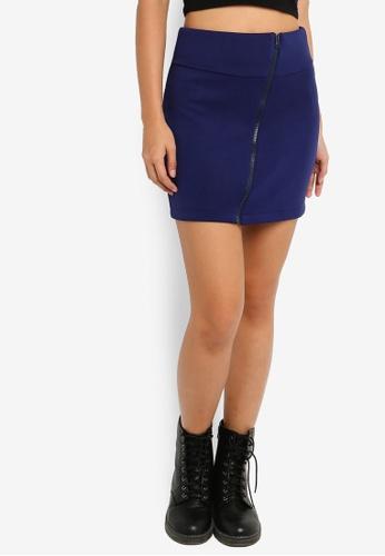 Something Borrowed 藍色 修身短裙 3189DAA1CA62F5GS_1