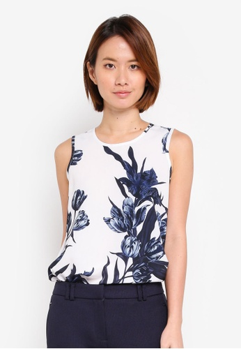 Dorothy Perkins white Ivory Floral Sleeveless Top A6F8AAA0070169GS_1