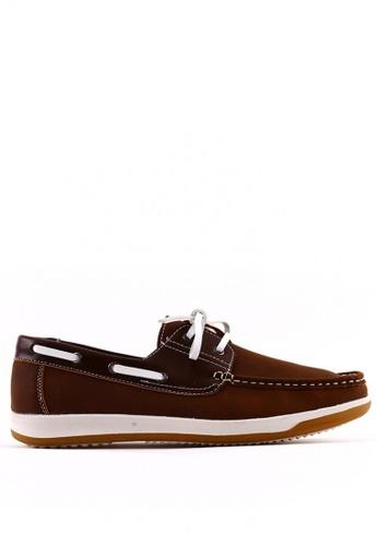 7soles brown Reiner MS Smart Casual Shoes 7S266SH0JRARPH_1