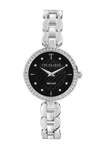 Trussardi silver T-Chain Quartz Watch Stainless Steel Steel Strap R2453137502 658C4ACE818BF9GS_1