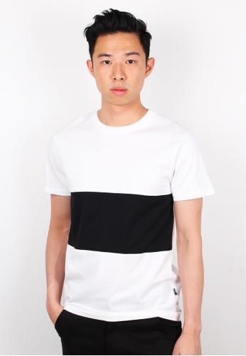 Moley white Colour Block T-Shirt MO329AA0FI4QSG_1