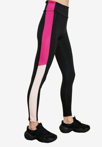 Trendyol black Mesh Colorblock Detailed Sports Leggings B9819AAB1B3283GS_1