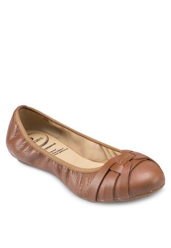 esprit 羽絨外套Alana 抓皺芭蕾平底鞋, 女鞋, 鞋