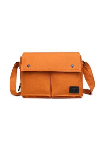 The Dude orange Wander Large Messenger TH373AC64ZFJHK_1