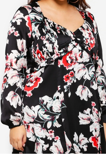 7963cdba21a1c Shop ELVI Plus Size Floral Sweet Pea Midi Dress Online on ZALORA Philippines